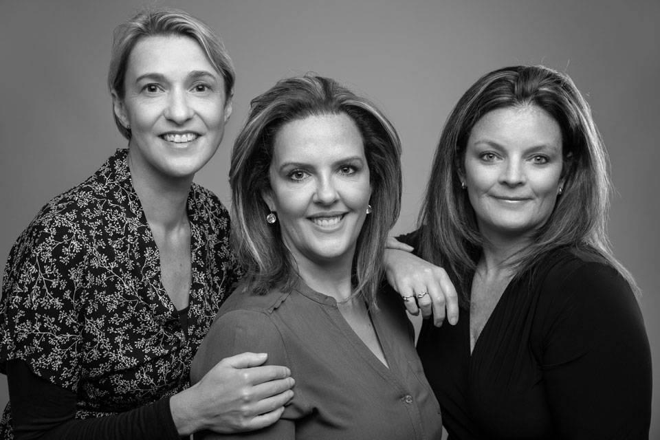 Natalia Rosa, Dionne Collett and Shereen Hunter